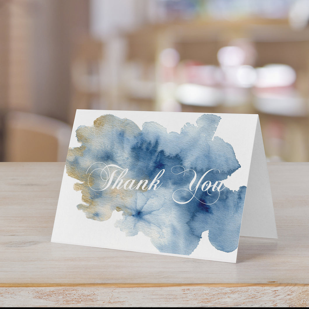 Watercolor Splash Thank You Card