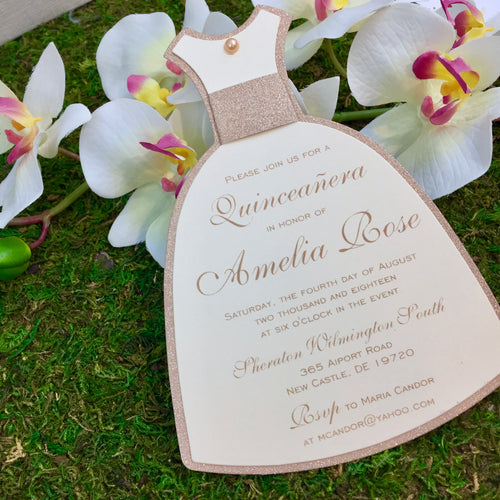 Quinceañera Slim Dress Invitation