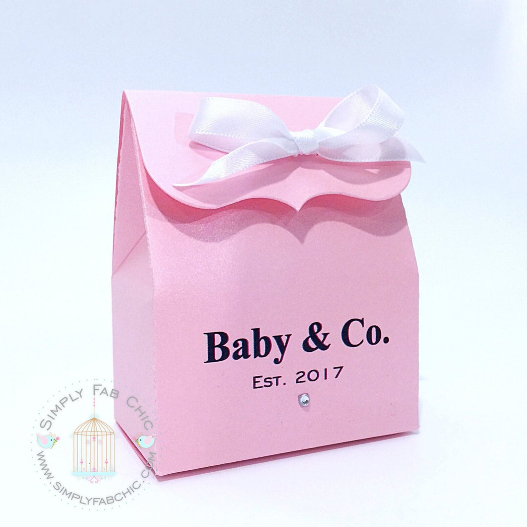 Baby & Co. Stylish Baby Shower Personalized Baby Shower Favor Bag - Simply Fab Chic