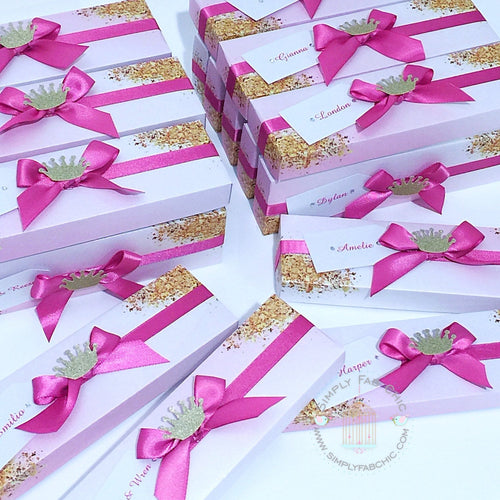 Unicorn Rainbow Scroll Invitation Boxes | Decorative Scroll Boxes | Decorated Scroll Invite Box - Simply Fab Chic