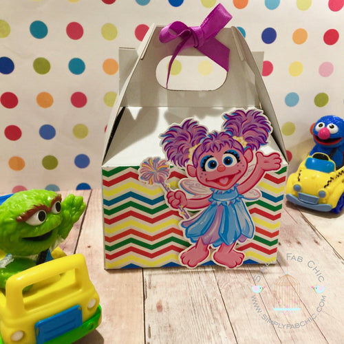 Abby Cadabby Favor Gable Box | Sesame Street Birthday Party Treat Box | Snack Box - Simply Fab Chic