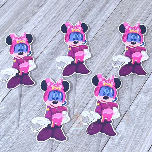 Minnie Roadster racer | Cupcake Topper Personalized Tags / Gift Tags / Thank you Tags / Mickey Roadster Cupcake Toppers | Race Racing - Simply Fab Chic