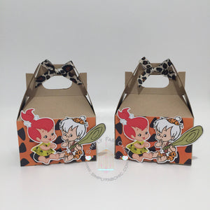 Bam Bam Pebbles Flintstones Favor Box | Birthday Party Gable Favor Treat Boxes - Simply Fab Chic