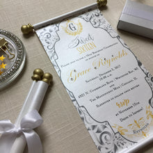 Load image into Gallery viewer, Sweet 16 Gold Silver Scroll Invitation Birthday - Simply Fab Chic