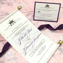 Load image into Gallery viewer, Monogram Royal Wedding Scroll Wedding Invitation | Vow Renewal Invite - Simply Fab Chic