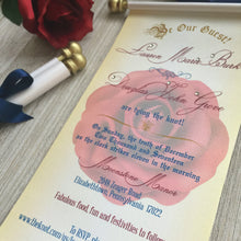 Load image into Gallery viewer, Beauty and the Beast inspired Wedding Scroll Invitation Sweet 16 Birthday Invite Quinceanera - Simply Fab Chic