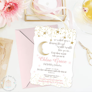 Twinkle Twinkle Little Star Invitation | Birthday Handmade Prince Princess Invitation | Baby Shower Invite | Gender Reveal - Simply Fab Chic