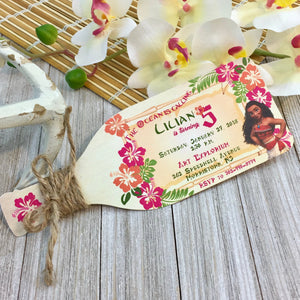 Moana Bottle Invitation (Min. Set. 10)| Luau Bottle Invite | Bottle Invitation | Disney Moana Handmade Custom Invitation - Simply Fab Chic