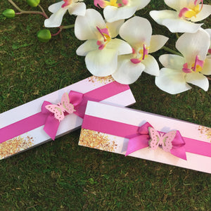 Butterfly Scroll Invitation Boxes | Decorative Scroll Invite Box - Simply Fab Chic
