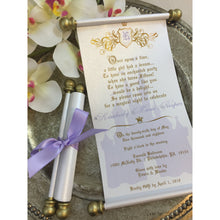 Load image into Gallery viewer, Princess Sweet 16 Lavender & Gold Scroll Birthday Invitation - Simply Fab Chic