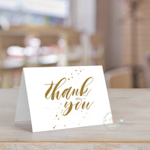 Load image into Gallery viewer, Handwritten Thank You Card (Set of 10) Gold Tone Color Wedding Thank You Card | Bridal Shower Thank You card note | Personalized Thank You - Simply Fab Chic