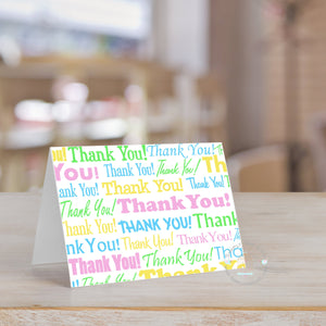 Baby Shower Neutral Thank You Card (Set of 10) Colorful Thank You Card | Baby Birthday Thank You card note | Personalized Thank You - Simply Fab Chic
