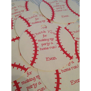 Baseball Customized Tags / Cupcake Toppers - Simply Fab Chic