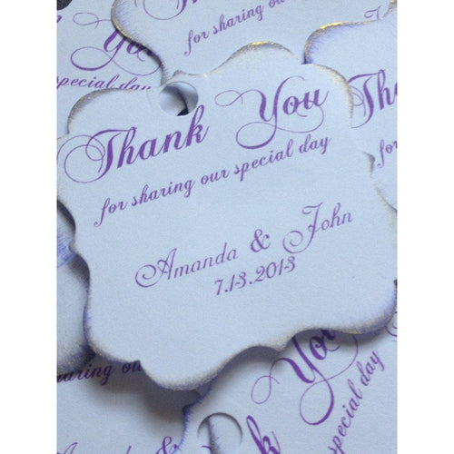 Wedding thank you Personalized Tags / Gift Tags / Thank you Tags / Cupcake Toppers - Simply Fab Chic