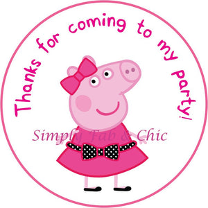 Peppa Pig Thank You Tags - DIGITAL / DYI PRINT - Simply Fab Chic