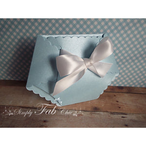Baby Boy Shower Diaper Invitation in Light Blue and White - Simply Fab Chic