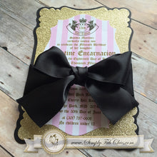 Load image into Gallery viewer, Classy and Chic Juicy Couture Inspired Custom handmade sparkly glitter Invitation (set of 10) - Simply Fab Chic