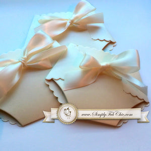 Baby Shower Beige Neutral Unisex Diaper Invitation - Simply Fab Chic