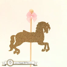 Load image into Gallery viewer, Carousel Horse Cupcake Topper / Merry Go Around Horse - Glitter - Simply Fab Chic