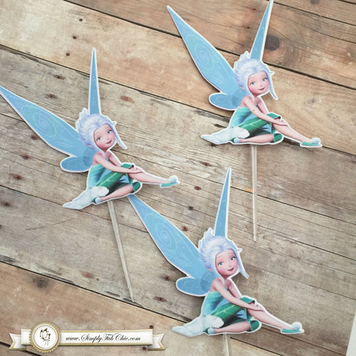 Periwinkle Tinkerbell Cupcake Topper Personalized Tags / Gift Tags / Thank you Tags / Cupcake Toppers - Simply Fab Chic