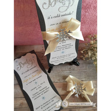 Load image into Gallery viewer, Baby It's Cold Outside Custom handmade sparkly glitter Invitation - Simply Fab Chic