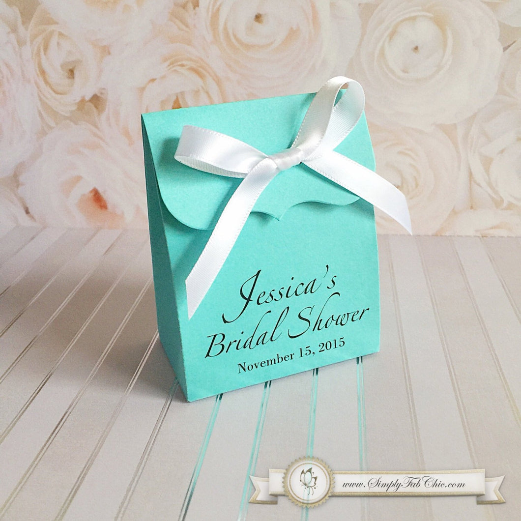 Turquoise Aqua Wedding Bridal Shower Favor Bag - Simply Fab Chic