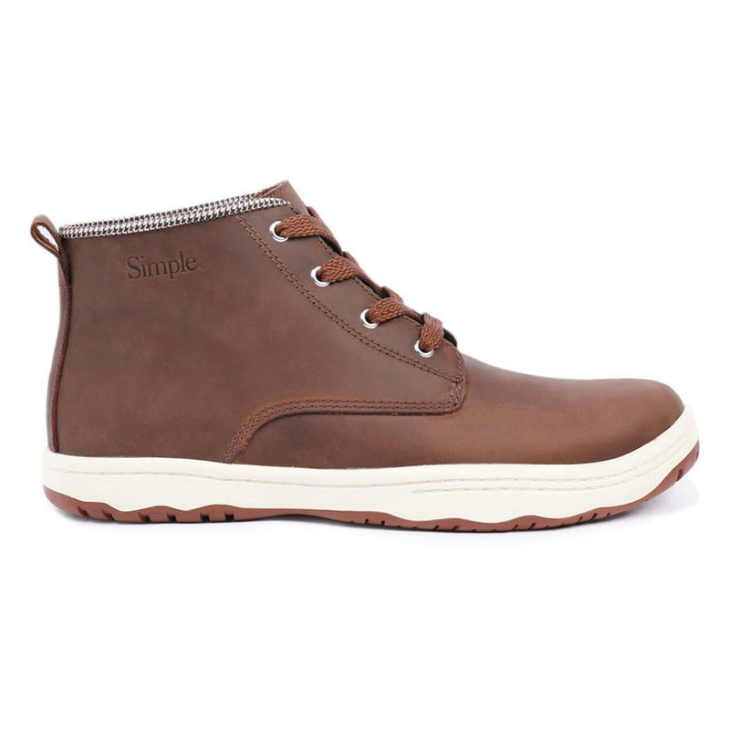 Color:Brown-Simple Barney Leather Boot