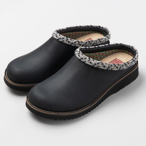 Color:Black-Simple Original Clog Leather -alt