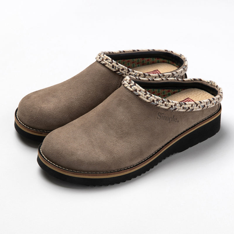 Color:Taupe-Simple Original Clog Suede -alt