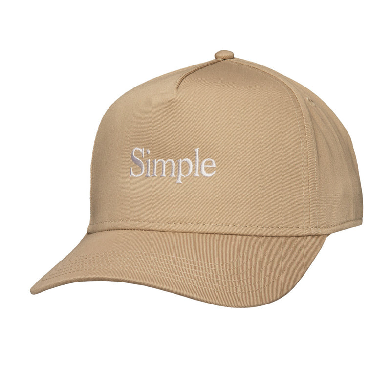 Color:Khaki-Simple Logo Baseball Hat