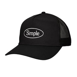 Color:Black-Simple Oval Trucker Hat