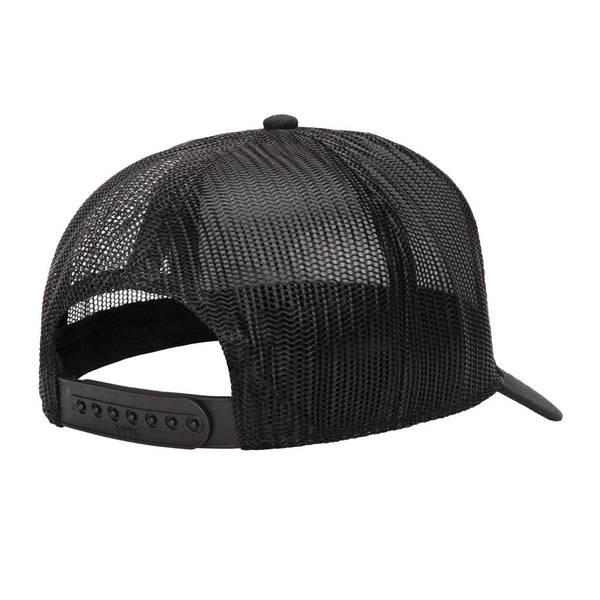 Color:Black-Simple Oval Trucker Hat -alt