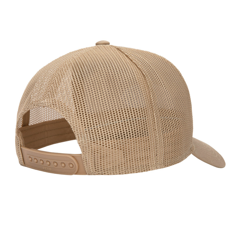 Color:Khaki-Simple Oval Trucker Hat -alt