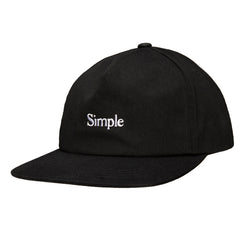 Color:Black-Simple Logo Unstructured Hat