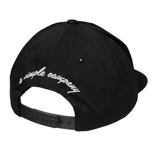 Color:Black-Simple Logo Unstructured Hat -alt