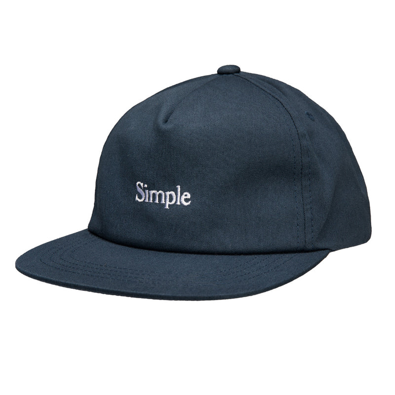 Color:Navy-Simple Logo Unstructured Hat