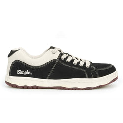 Color:Black-Simple OS Sneaker Suede