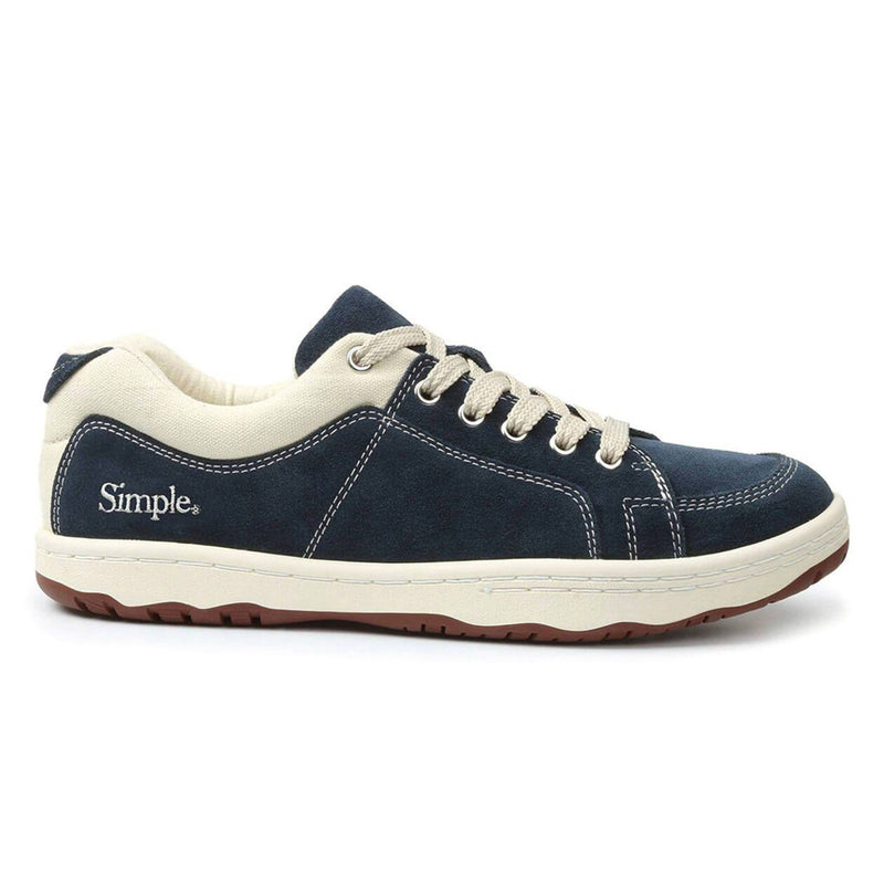 Color:Navy-Simple OS Sneaker Suede