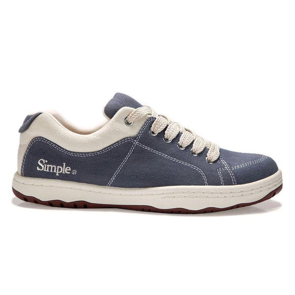 Color:Denim-Simple OS Sneaker Canvas