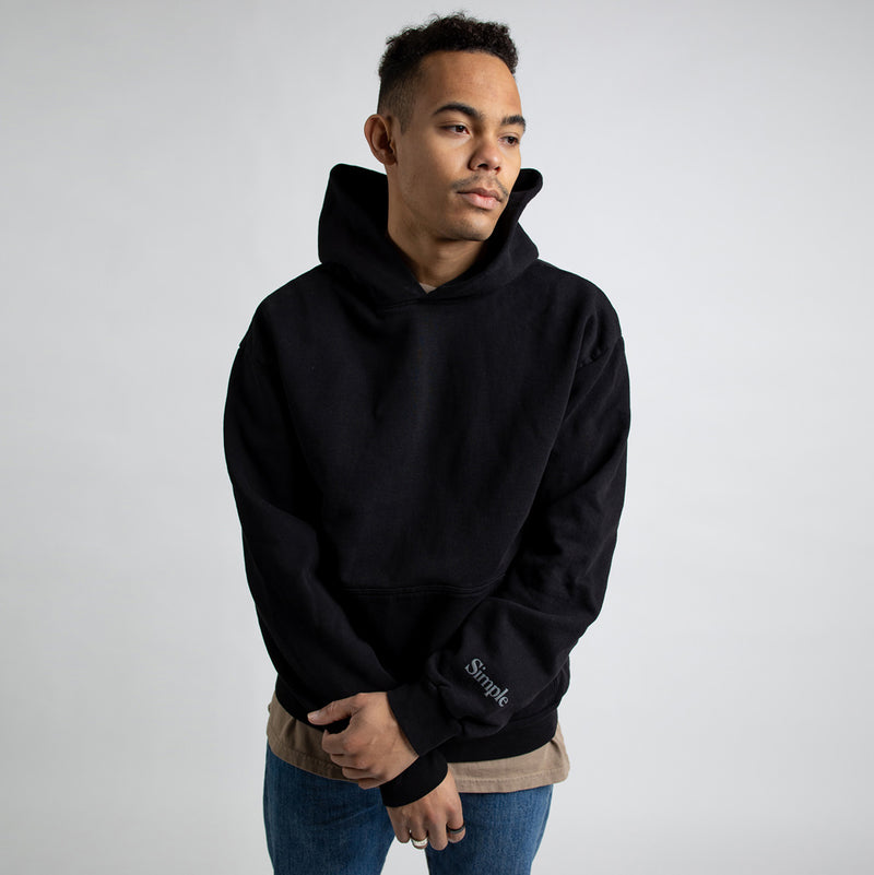 Color:Black-Simple Standard Issue Midweight Hoodie
