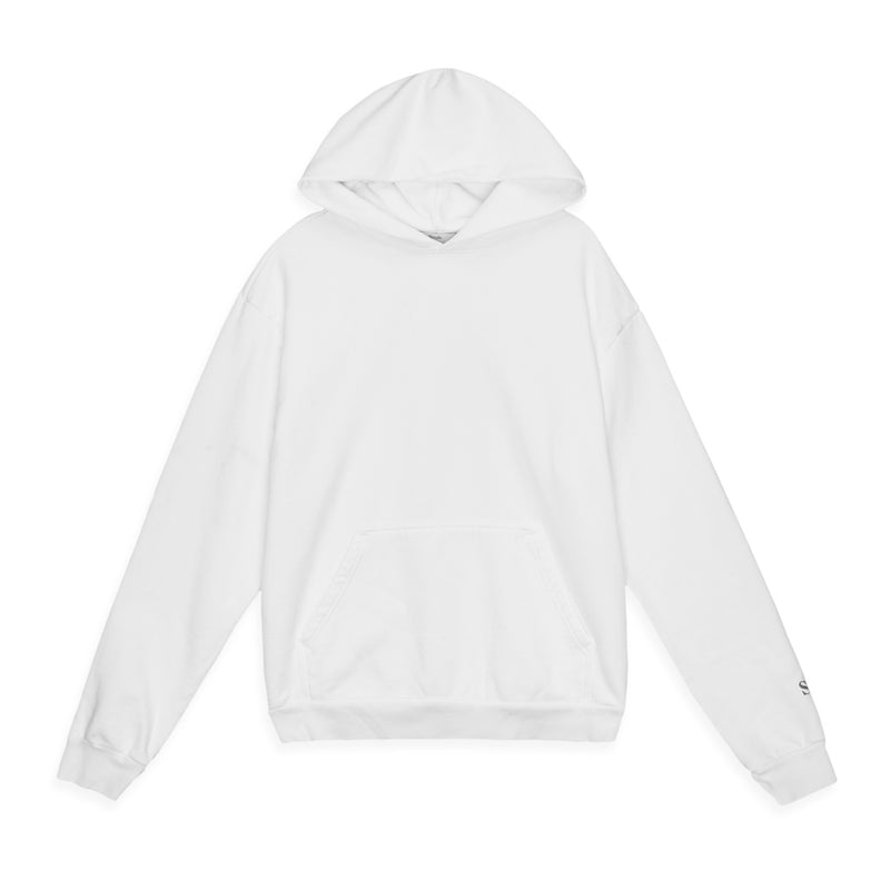 Color:White-Simple Standard Issue Midweight Hoodie