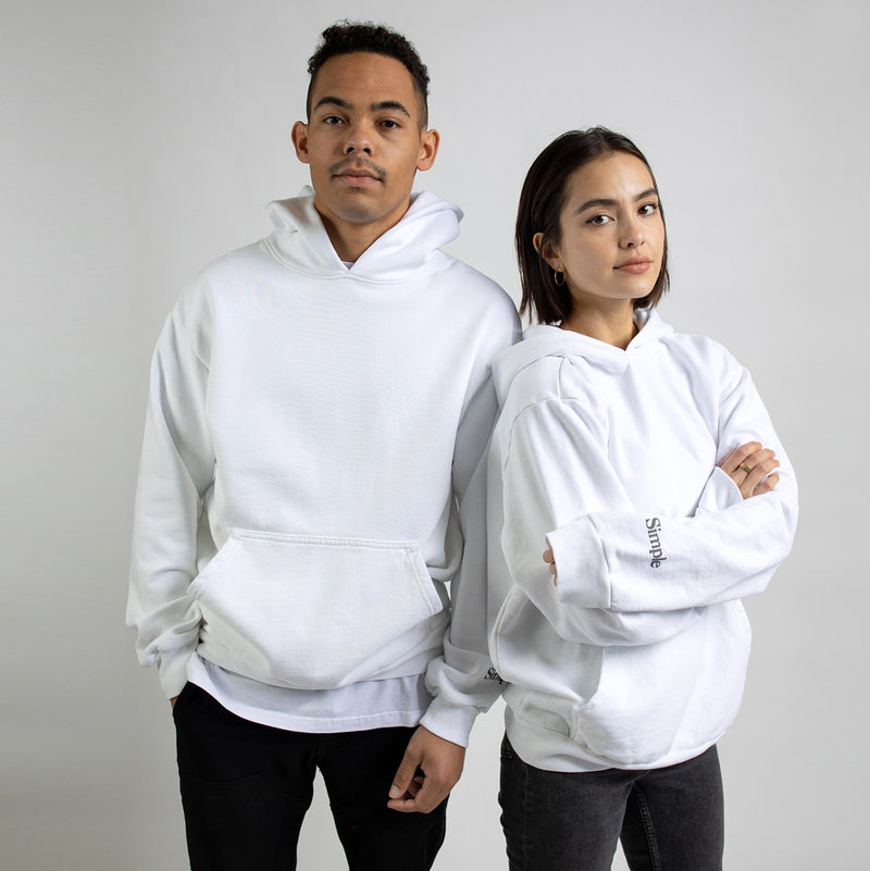 Color:White-Simple Standard Issue Midweight Hoodie -alt