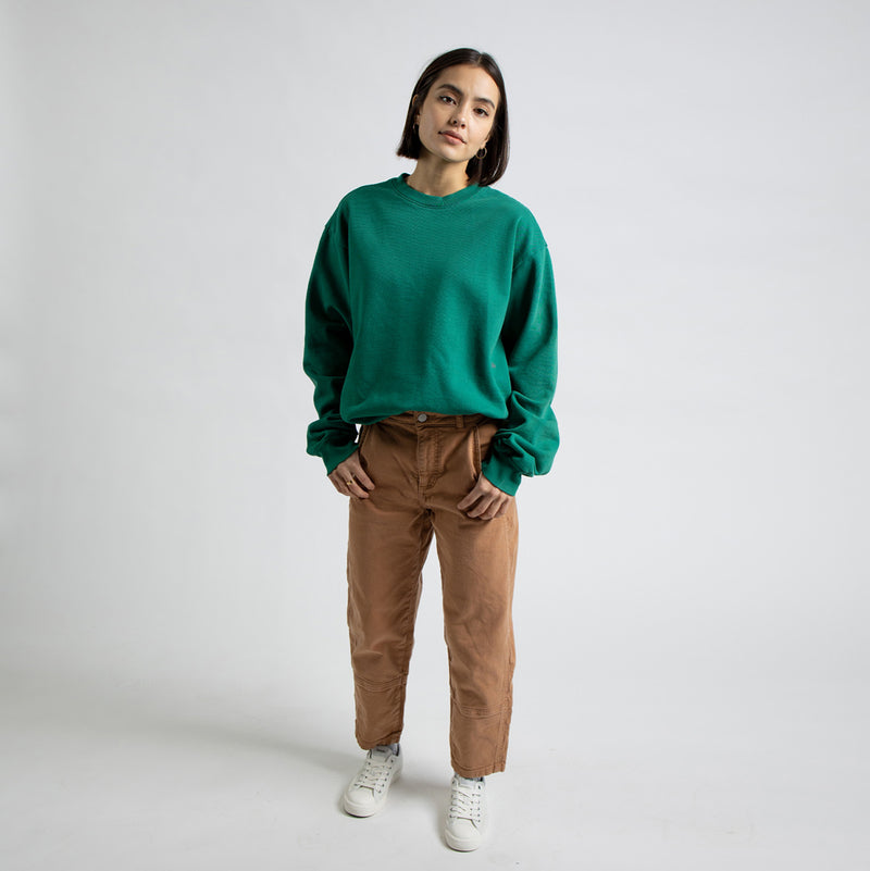 Color:Green-Simple Standard Issue Midweight Crew -alt