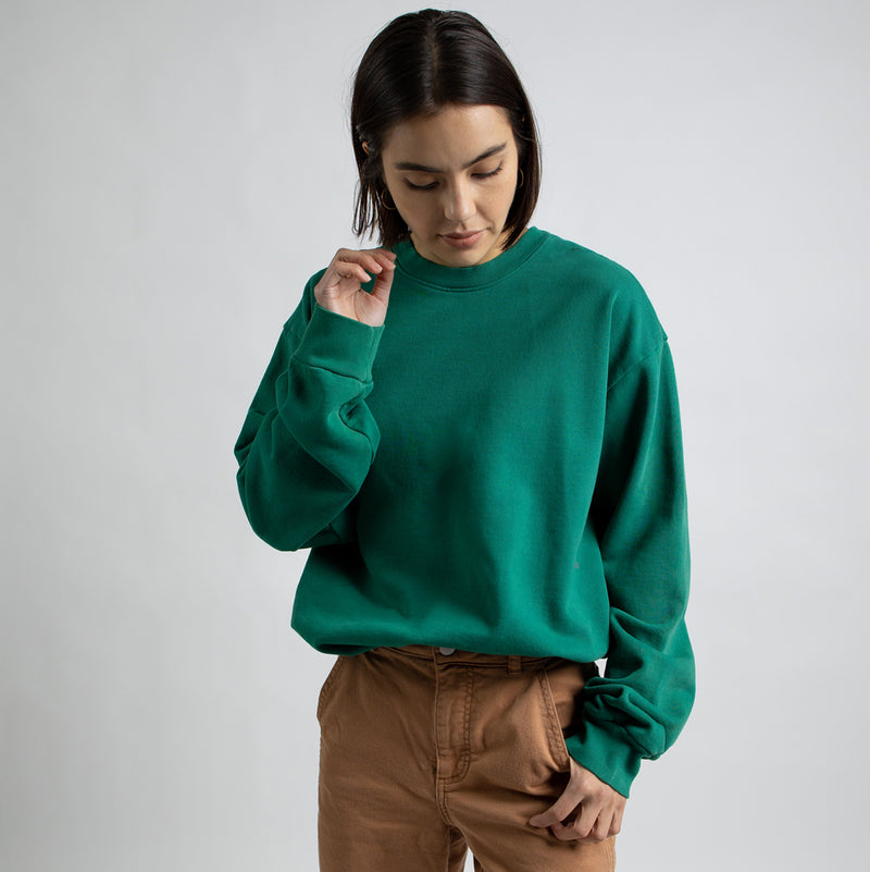Color:Green-Simple Standard Issue Midweight Crew
