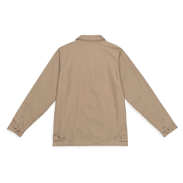 Color:Khaki-Simple Organic Cotton Station Jacket
