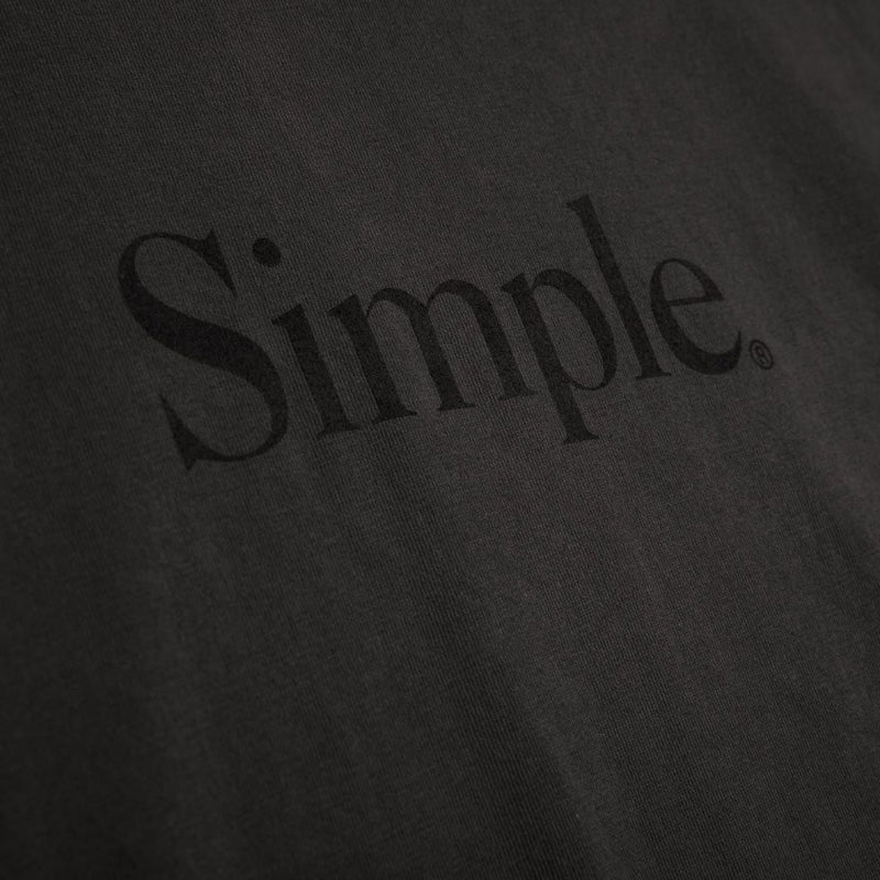 Color:Charcoal-Simple Standard Issue Tee -alt