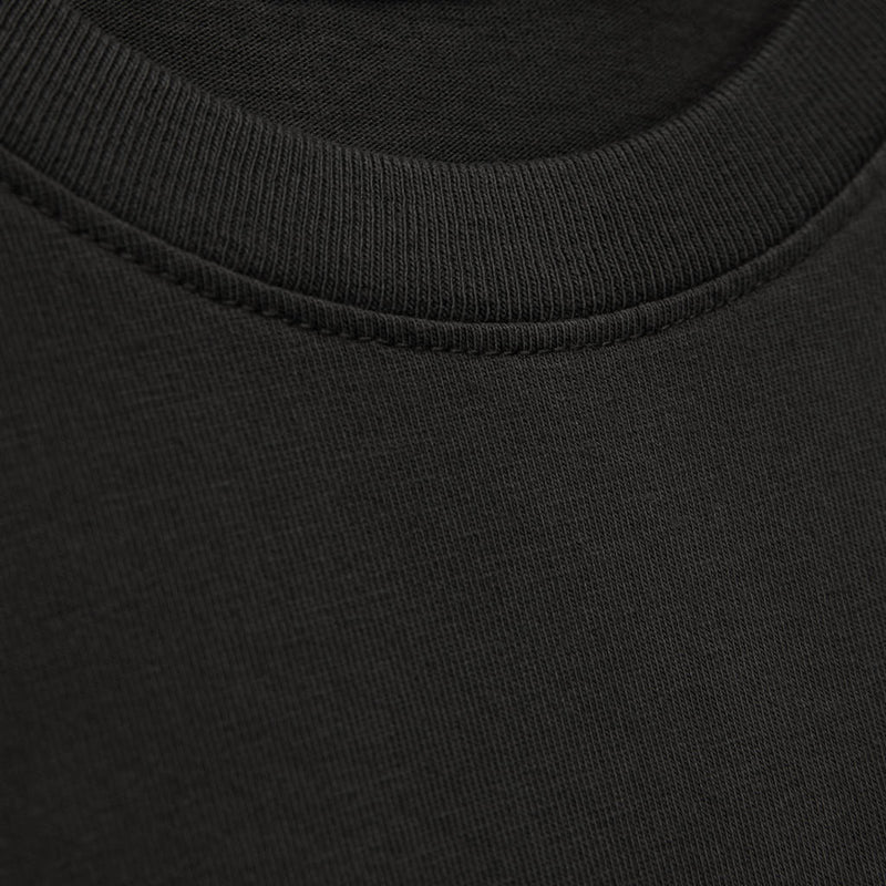 Color:Charcoal-Simple Oval Tee