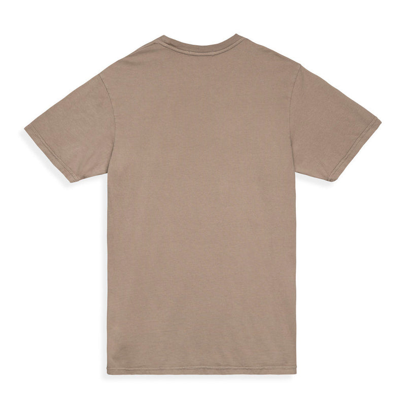 Color:Sand-Simple Oval Tee