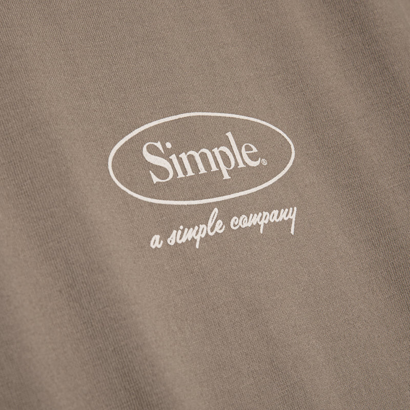 Color:Sand-Simple Oval Tee -alt