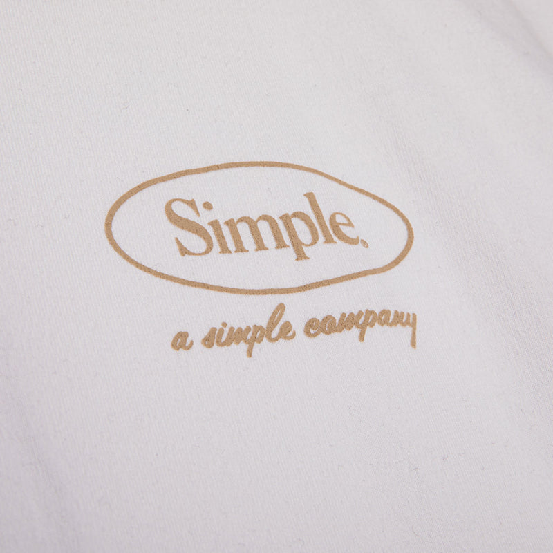 Color:White-Simple Oval Tee -alt